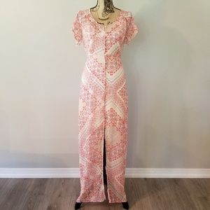 EUC Express | Button up Floral Lined Sheer Dress